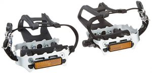 Diamondback Bicycle Pedals with Toe Clips
